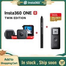Insta360 ONE R กีฬาแอ็คชั่นกล้อง 5.7K 360 4K 1 นิ้วมุมกว้างกล้องวิดีโอกันน้ำสำหรับ iPhone และ Android