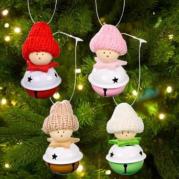 Dzwonki ozdoby piękne ozdoby do zawieszenia wiszące ozdoby Jingle Bells ozdoby choinkowe do drzwi dom świąteczny prezent Noel 2022 tanie i dobre opinie POLIESTER 13-24m 25-36m 4-6y 7-12y 12 + y 18 + CN (pochodzenie) none Unisex Christmas Ornaments Toys do not eat Animals