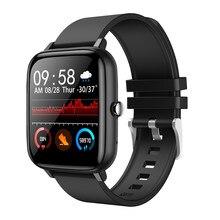 Willgallop p6 chamada bluetooth relógio inteligente toque completo monitor de pressão arterial das mulheres dos homens fitness rastreador smartwatch para android/ios