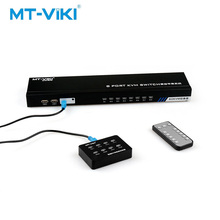 MT-VIKI VGA KVM switch 8-port compatible Manual switching with Apple system with remote control Desktop controller MT-801UK-C upgraded mt viki 8 port smart manual key press vga usb kvm switch remote extension switcher console original cable rackmount