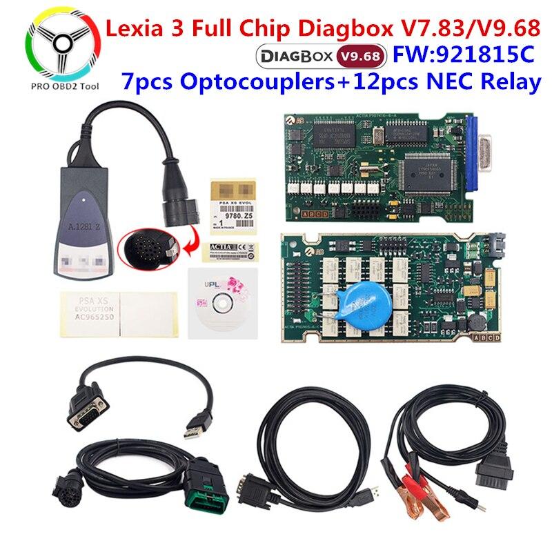 Золотой Lexia 3 PP2000 Diagbox V7.83 полный чип 921815C диагностический инструмент Lexia 3 для Peugeot, для Citroen lexia3 автоматический сканер