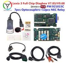 Golden lexia 3 pp2000 diagbox v7.83 completo chip 921815c ferramenta de diagnóstico lexia 3 para peugeot para citroen lexia3 scanner automático
