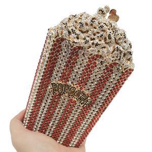 Image 4 - Boutique De FGG Donne di Cristallo di Lusso Borse Da Sera e Pochette Popcorn Minaudière Frizione Borsa Da Sposa di Cerimonia Nuziale Del Partito Della Borsa
