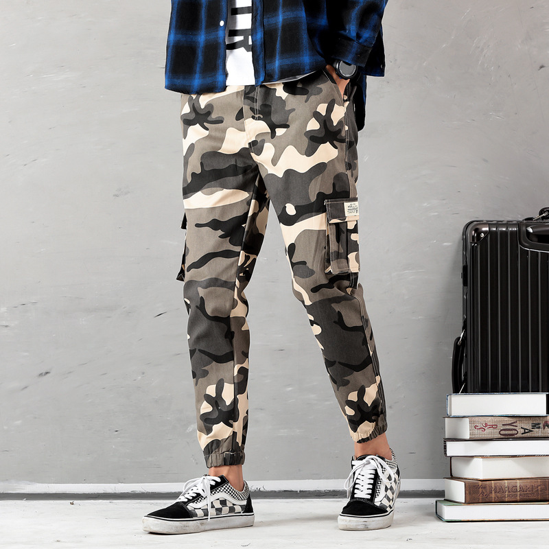 Joobox Camouflage Workwear Bags Casual Pants Men's Teenager Students Sports Loose-Fit Skinny Harem Trousers