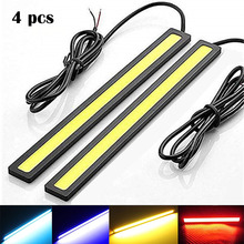 цена на 4 pcs New 17cm LED COB Daytime Running Light Waterproof DC12V Car Light Source Parking Fog Bar Lamp strip