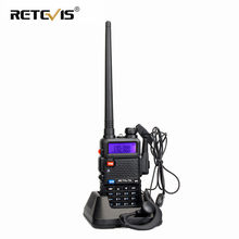 RETEVIS RT5R Walkie Talkie de mano 5W VHF UHF jamón Amateur de la estación de Radio de dos vías de Radio juego Airsoft Walkie-Talkie Baofeng UV-5R(China)