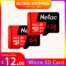 Netac P500プロ64ギガバイトのマイクロsdカード128ギガバイトtfカードU3 V30コンピュータビデオカードまで100メガバイト/秒256ギガバイトメモリカードスマートフォン用ドローン