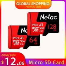 نيتاك P500 برو 64 جيجابايت مايكرو SD بطاقة 128 جيجابايت TF بطاقة U3 V30 الكمبيوتر بطاقة فيديو تصل إلى 100 برميل/الثانية 256 جيجابايت بطاقة الذاكرة للهواتف الذكية بدون طيار