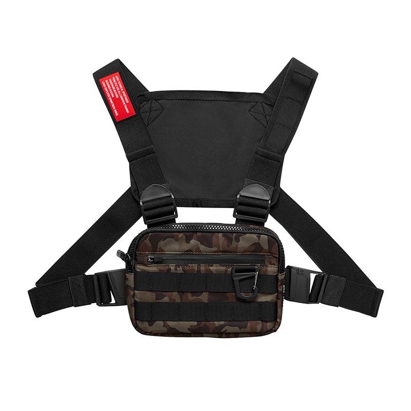 Hip Hop Military Tactical Chest Rig Bag Backpack Men Adjustable Multi-Functional Molle Tool Pouch Shoulder Bag Tactical Vest Bag