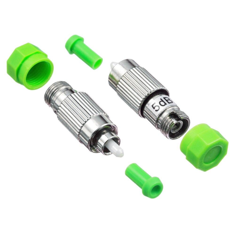 5PCS/bag FC APC female to male 5dB fiber optic Attenuator FC APC female male Fiber Optic Attenuator Adapter