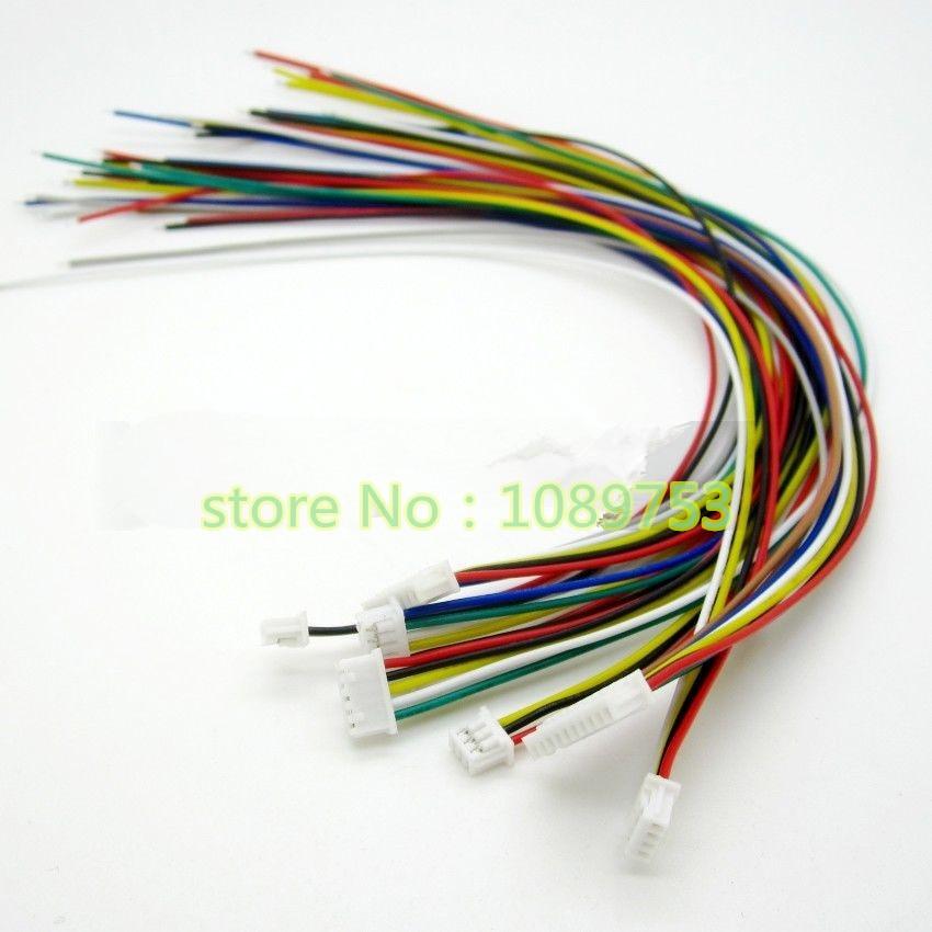 Connecteur de prise femelle à fil JST 150MM   20 pièces 1.25MM 2/3/4/5/6/7/8/9/10, broche 1.25MM 2p/3p/4p/5p mini câble/6p/7p/8p/9p/10 p   Câble micro