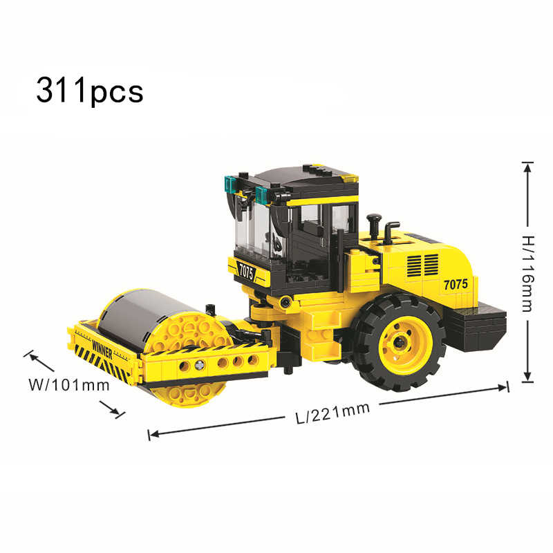 互換性 legoed テクニック建設車両都市トラックブルドーザーショベルビルディングブロック子供のおもちゃ市エンジニアリングチーム