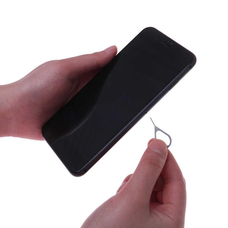 5/10/20/50 adet/takım için Sim kart tepsi sökücü çıkar Pin anahtar aracı paslanmaz çelik iğne telefon IPad için toptan