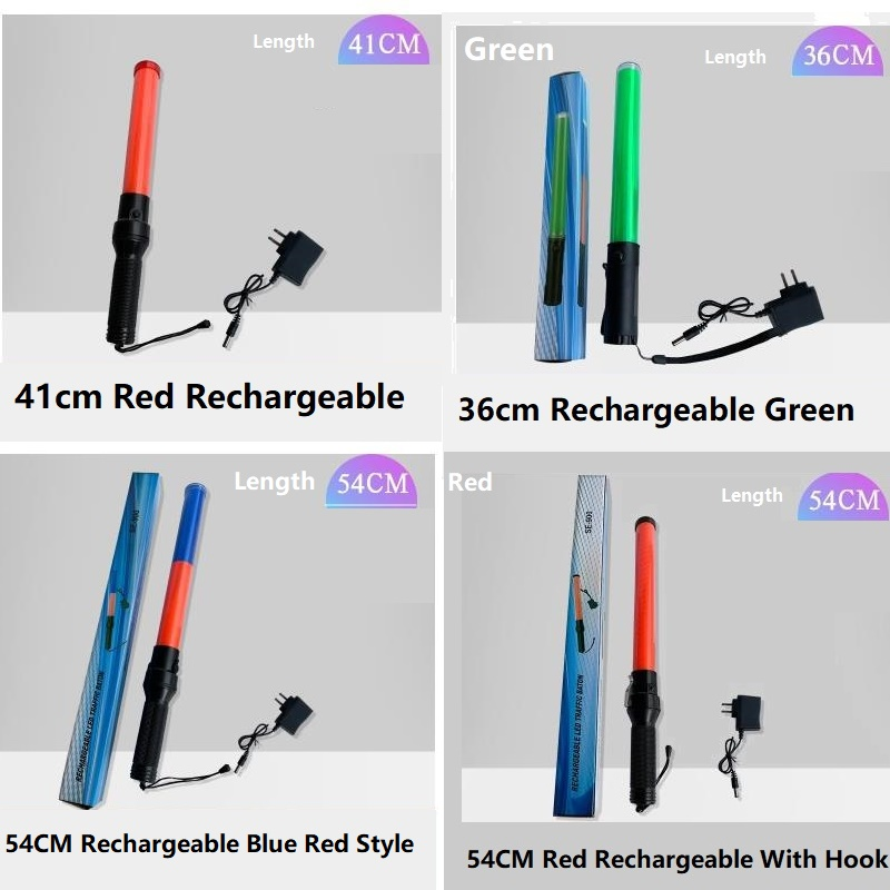 Rechargeable LED Fire Control Fluorescent LED Road Traffic Police Safety Command Baton Evacuation Lifesaving Indicator