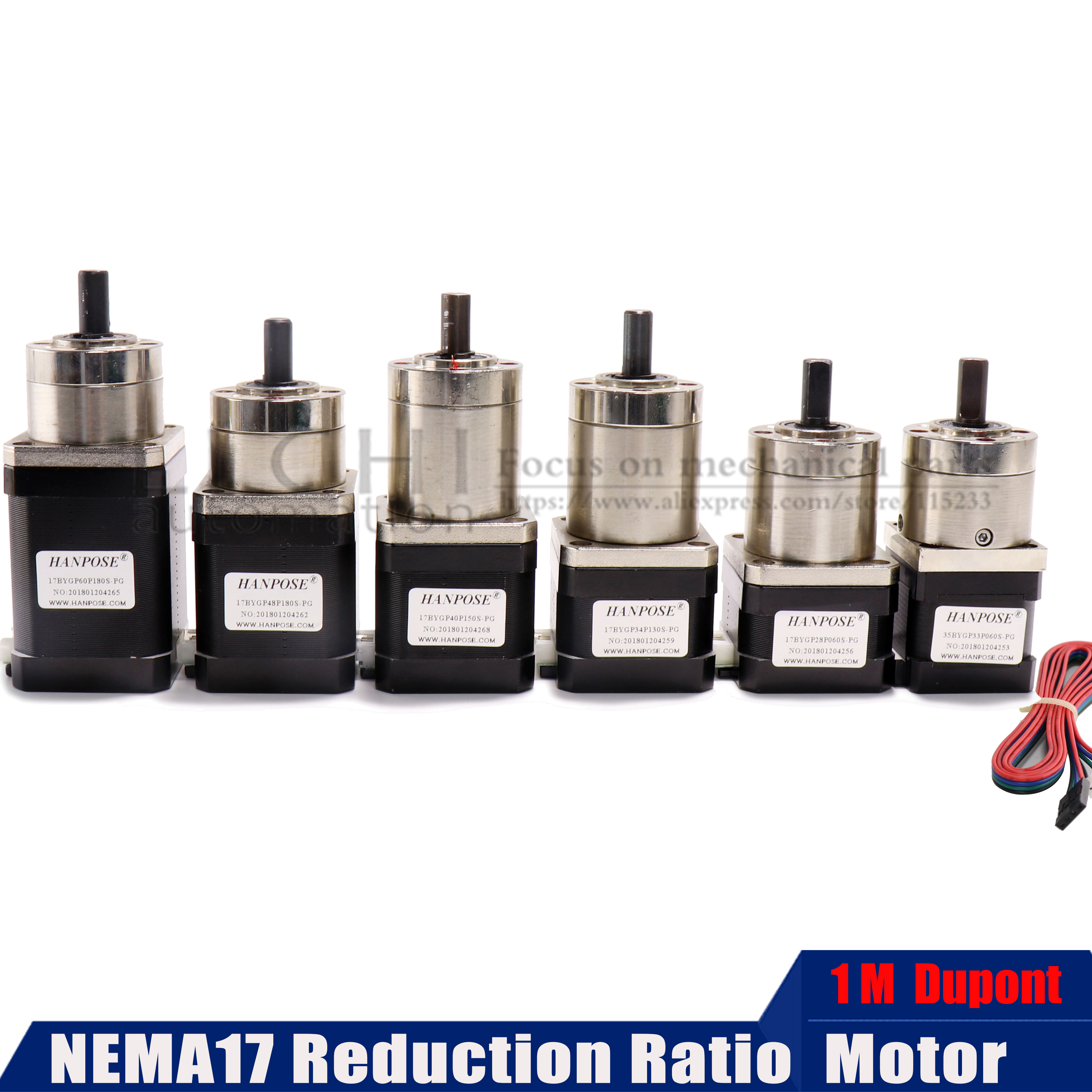 For 3D Printer Stepper Motor Nema 17 Planetary Geared Gearbox All Ratio 17HS2408S 3401S 4401S 6401S 8401S Motor