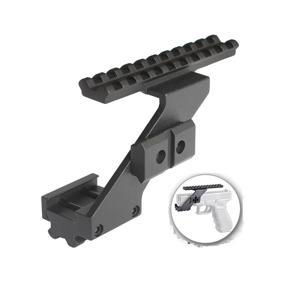 Magorui Aluminium Pistole Umfang Handschutz Montieren Für Pistole Red Dot Laser Anblick Picatinny/Weaver Schiene Glock 17 19 20 22 23 30 32