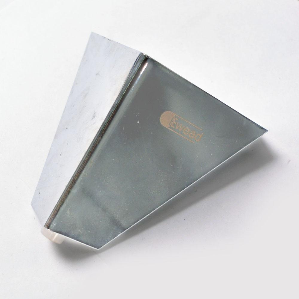 Triangle Sofa Table Legs,Ewead Cabinet Feet Height 10cm Anti-Rust Furniture Accessories Silver Metal Furniture Legs
