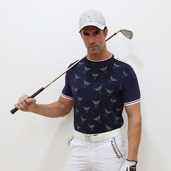New men Golf Shirt Fashion Male Golf polo shirt 100 polyester PLAYEAGLE sports clothing