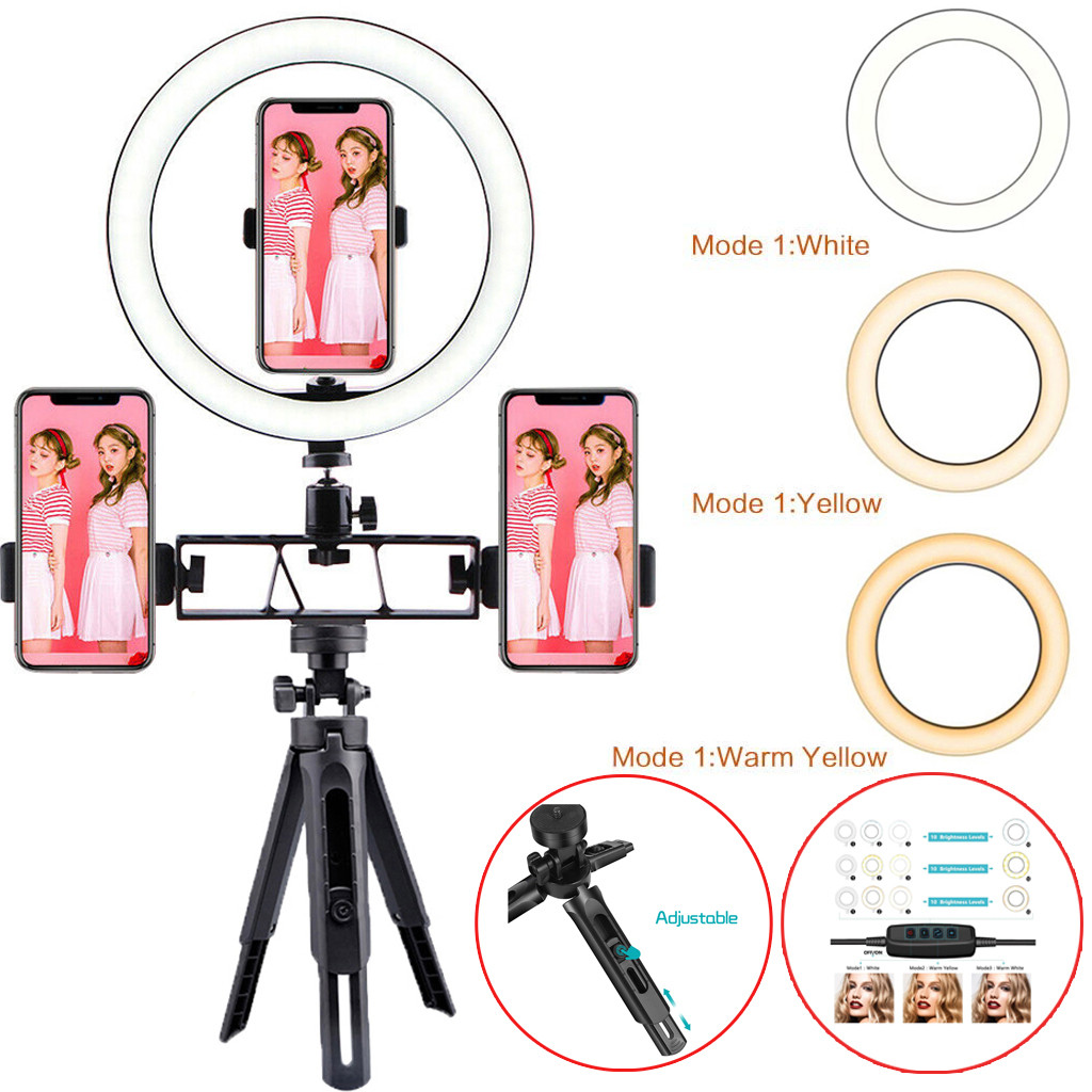 10Inch LED Ring Light LampTripod Stand Selfie Camera Phone Studio Video Dimmable moviles baratos libre android espa  ol