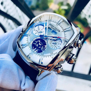 Reef Tiger/RT Top Brand Luxury Big Watch White Dial Mechanical Tourbillon Sport Watches Relogio Masculino RGA3069 - discount item  30% OFF Men's Watches