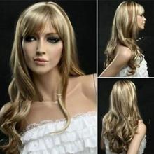 Free Shipping New Fashion mix blonde long Wavy Cosplay Wig