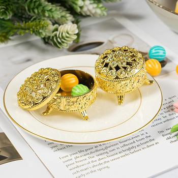 Exquisite European Style Small Censer Electroplating Wedding Retro Box Box Decoration Color 1pc Little Color Gold Silver Ca Z8G5 image