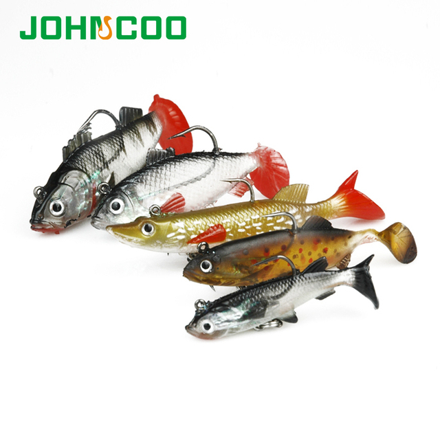Lot 5Pcs Fishing Lures Kit Soft Bait Wobbler Artificial Lead Fish Pike Fish Jig