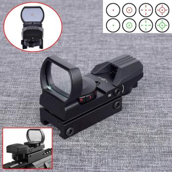 Tactical Hunting Scopes Optics Red Green Dot Sight Scope Pistol Airsoft  Reflex 4 Reticle RifleScopes Holographic Sight kandar 3 5 14x44 aoq first focal plane hunting riflescopes red green illuminated p4 glass etched reticle turrets lock scope