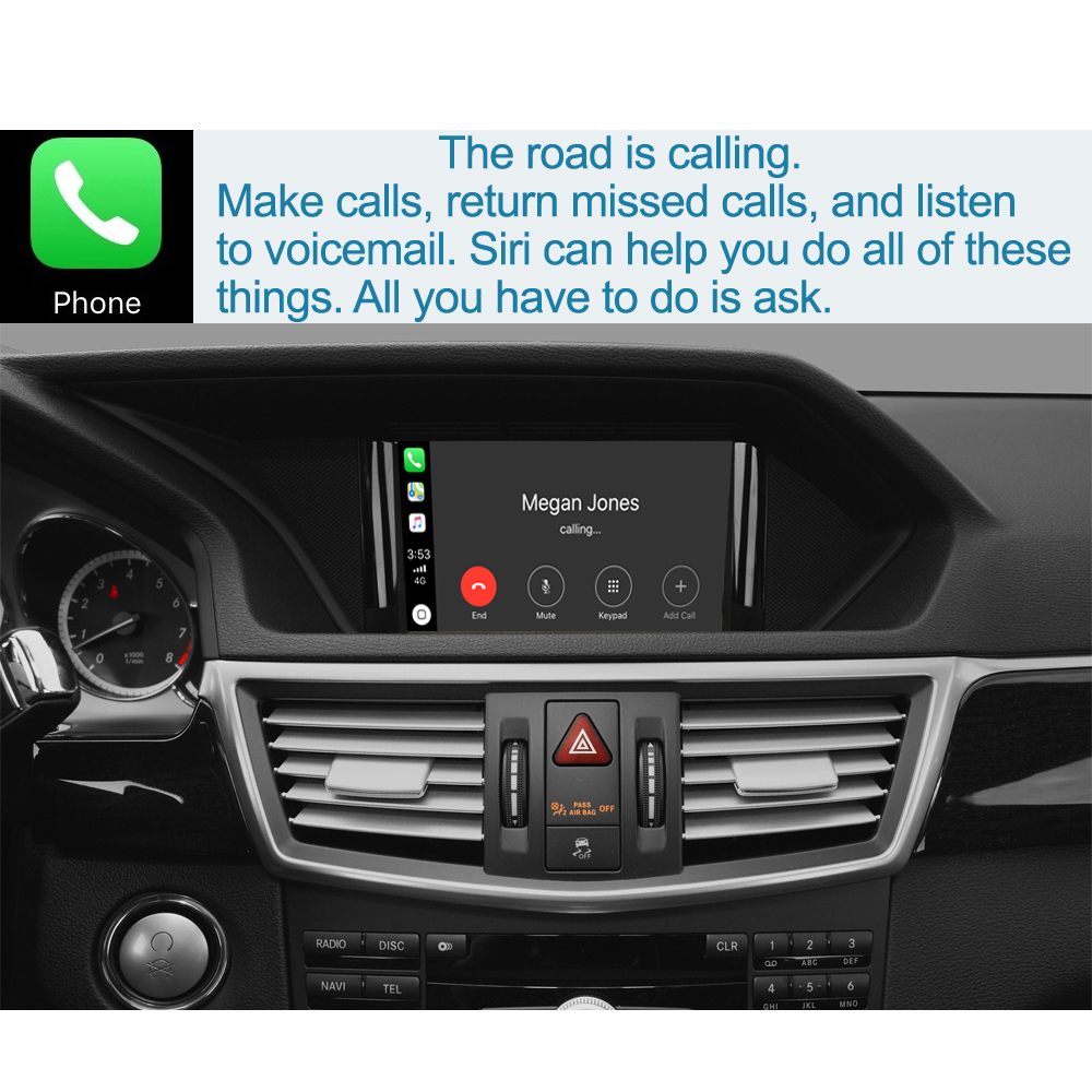 with Mirror Link Autolink AirPlay Functions Wireless CarPlay Android Auto Module for Mercedes Benz/E Class W212 E Coupe C207 2011-2015