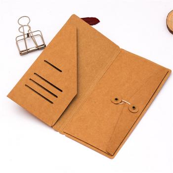 Papier pakowy Vintage torba do przechowywania kart koperta bilety odbiór Folder notatnik wewnątrz arkuszy wkłady Retro napełnianie torby biuro tanie i dobre opinie Bonytain Plik skrzynka Portfel 9-21cm File Folder Kraft Paper Envelope Tickets Receipt Card Storage Bag Office Supplies