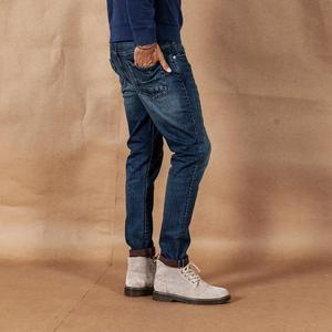 Image 2 - سيموود 2020 جينز ربيع وشتاء جديد موضة رجالية ممزق جودة عالية ملابس ماركة كبيرة الحجم سراويل دينم 190361