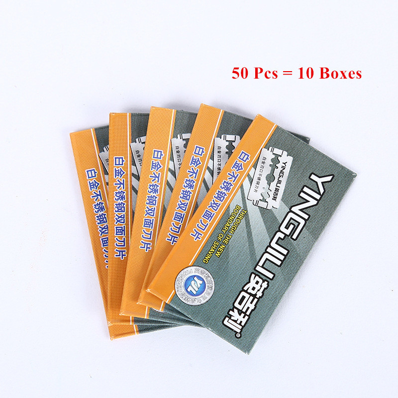 25pcs DC Razor Blades Stainless Steel Safety Razor Blades For Shaving Razor Men Shaver Lames De Rasoir Barber Blade