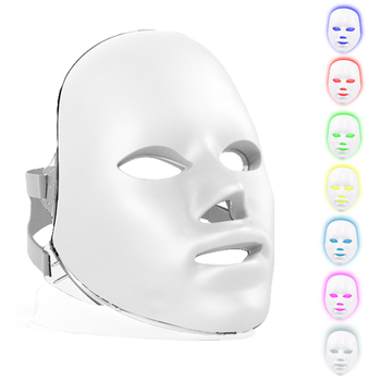 New 7 Colors Beauty LED Photon Facial Mask Skin Rejuvenation Wrinkle Acne Removal Lifting Anti Massager Beauty Spa Device