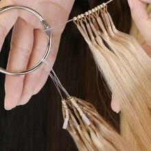 MRSHAIR накладные волосы из человеческих волос с двойным рисунком 8D микро бусины для наращивания волос невидимые #2 #4 #6 #27 #60 аппарат Реми 16 20 дюй...