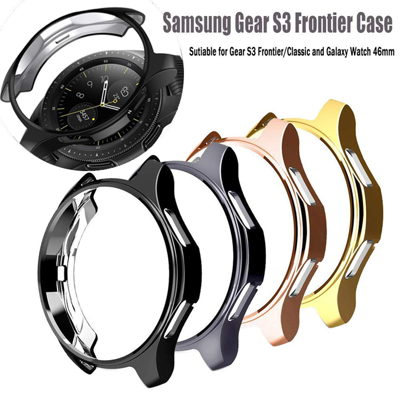 Watch Case for samsung Gear S3 Frontier Galaxy watch 46mm/42mm case TPU plated All-Around protective Cover watch Accessories