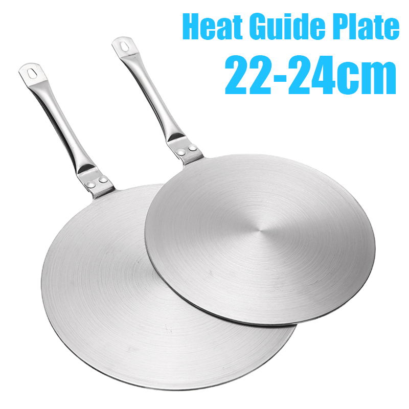 22//24cm Stainless Steel Heat Diffuser Plate For Gas//Electric//Induction Cooker