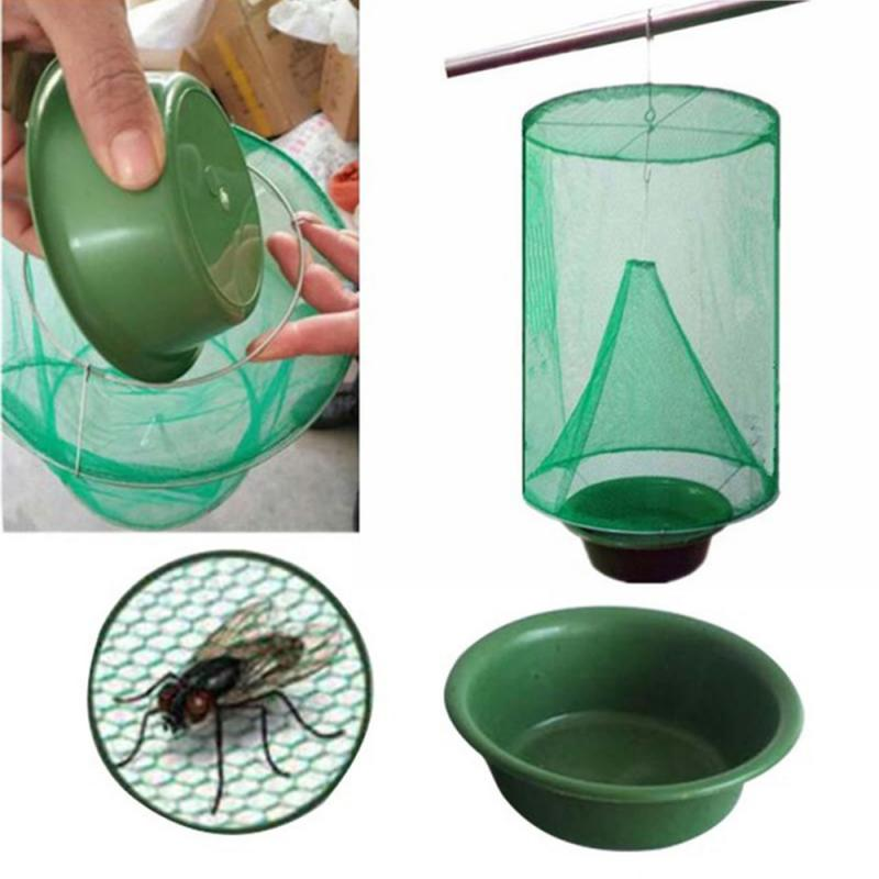 Hanging Flycatcher Reusable Folding Fly Trap Summer Mosquito Trap Top Catcher Fly Wasp Bug Pest Killer Home Garden Yard Supplie