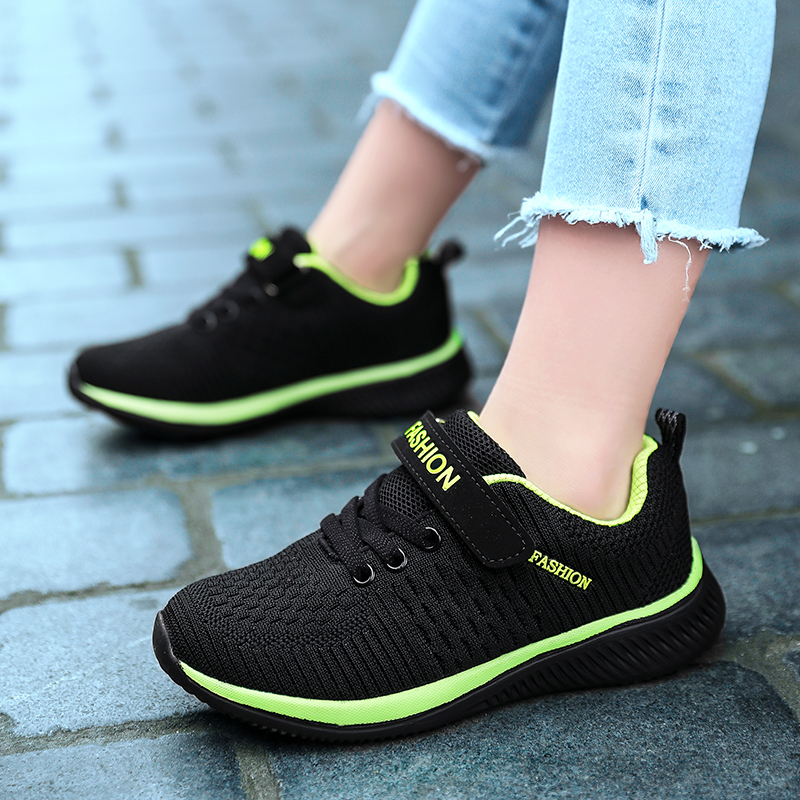 Kids Shoes Sports Child Sneakers Children Styles Light Sport Shoes Lace up Breathable Mesh Boys Running Shoes Trainers Tenis title=
