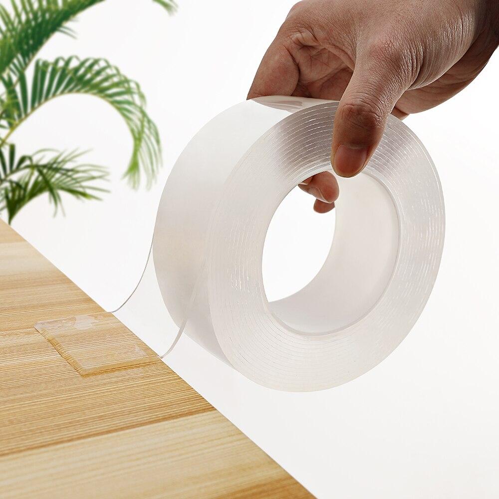 Домашняя многоразовая лента двусторонний клей для лица супер сильный бесследный нано клей гаджет cinta magica doble cara прозрачный