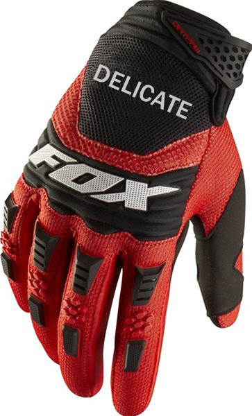 Delicate Fox Motocross Downhill Bike Riding Motorcycle Red Black Gloves