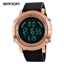 Часы наручные sanda мужские Цифровые модные спортивные брендовые