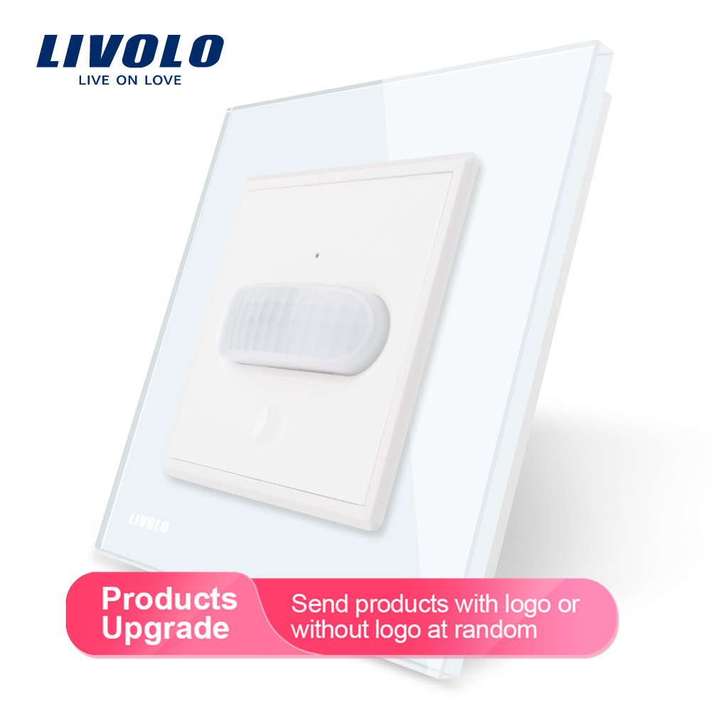 Livolo EU standard nouveau commutateur d'induction humaine/tactile, panneau en verre, AC 110 ~ 250V interrupteur d'éclairage mural à domicile, Inductio infrarouge