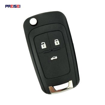 PREISEI 3 zamiennik z przyciskami odwróć składana obudowa pilota z kluczykiem samochodowym pokrowiec na chevroleta Cruze Epica Lova Camaro Impala Aveo tanie i dobre opinie flip remote key For Chevrolet Cruze abs+mental CN GUA PR-M07