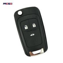 PREISEI 3 zamiennik z przyciskami odwróć składana obudowa pilota z kluczykiem samochodowym pokrowiec na chevroleta Cruze Epica Lova Camaro Impala Aveo tanie tanio flip remote key For Chevrolet Cruze abs+mental CN GUA PR-M07