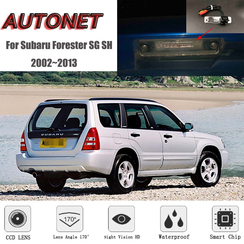 AUTONET Backup Rear View Camera For Subaru Forester SG SH 2002~2013 2005 2006 Night Vision Parking Camera License Plate Camera