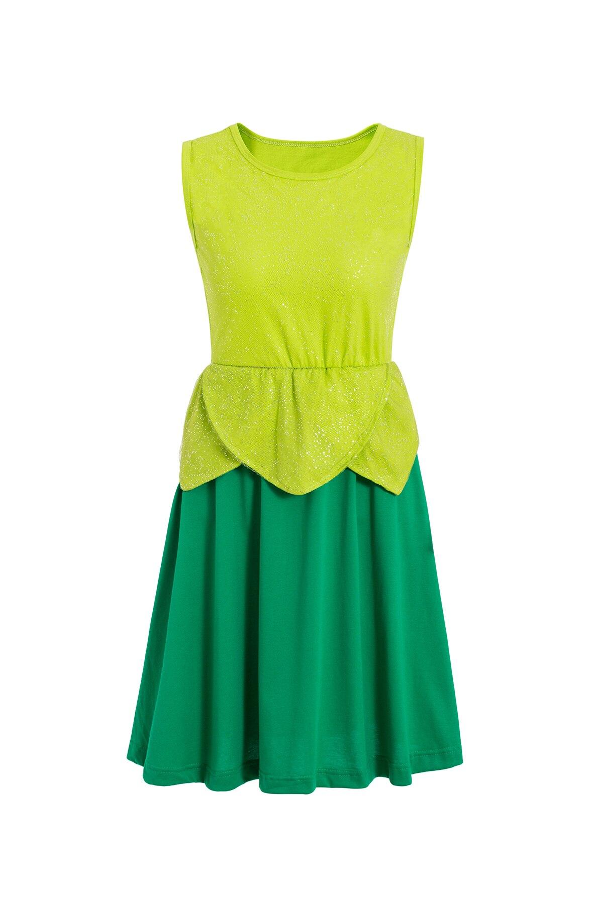 Платье принцессы для взрослых; одинаковый семейный маскарадный костюм «Минни Маус и я»; женское платье принцессы в горошек; большие размеры - Цвет: tinkerbell