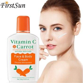 Vitamin C Carrot Bleaching Face Body Cream Skin Whitening Moisturizing Body Lotion Skin Lightening Cream