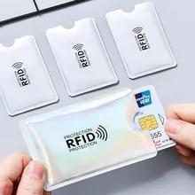 Blocking-Card-Sleeve Nfc-Reader Aluminum-Foil Anti-Scan RFID 5pcs for Men Women Laser