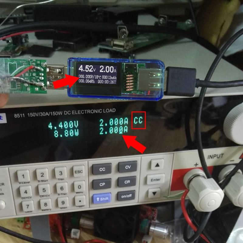 جهاز اختبار الفولتميتر الرقمي 12 في 1 بمنفذ USB تيار مستمر مقياس الجهد الحالي مقياس التيار الكهربائي جهاز كشف التيار الكهربائي مؤشر شاحن البنك
