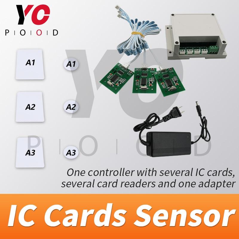 Sala de fuga RFID Cartões Prop Colocar Cartões IC para leitores de cartão Do Jogo da vida Real em um para um relacionamento para desbloquear takagismo YOPOOD